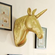 The Emily & Meritt Unicorn Wall Mount #pbteen