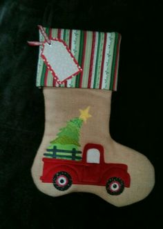 red truck stocking