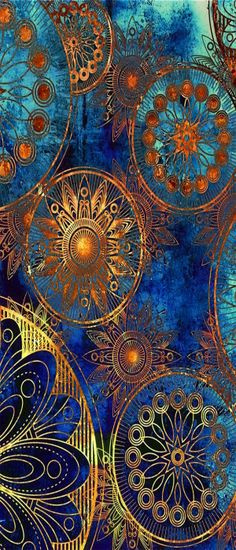 ~ blue and gold design ~