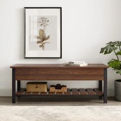 Shop The Gray Barn Paradise Hill Lift-top Storage Bench - On Sale - Overstock - 17783849 - Dark Walnut Mdf Furniture, Furniture Deals, Shoe Organizer Entryway, Grey Storage Bench, Entry Nook, Industrial Tv Stand, Slatted Shelves, Bench Decor, Barn Wood