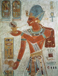 Egyptian Wall Painting of Ramesses II Dressed for War