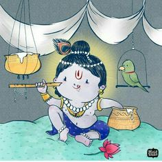 Design Clothes Draw Animation 41 New Ideas Little Krishna, Baby Krishna, Cute Krishna, Krishna Art, Krishna Images, Lord Krishna, Radhe Krishna, Lord Shiva, Krishna Drawing