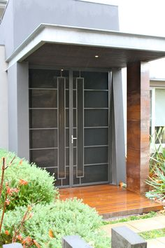 This is a great example of porch enclosure working well with the house design.