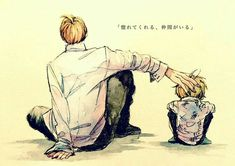 Vinsmoke Sanji, sad, text, young, childhood, different ages, time lapse, patting, head; One Piece