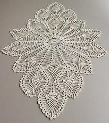 Oval Crochet Doily Pineapple Crochet