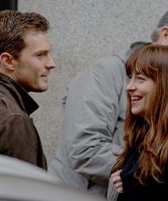 Jamie and Dakota 'Fifty Shades Darker' movie set, March 7th