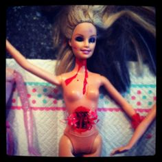 Gory Halloween Barbie Dolls