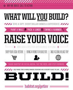 #Volunteer with @Habitat for Humanity! What will you build?  www.habitatbucks.org