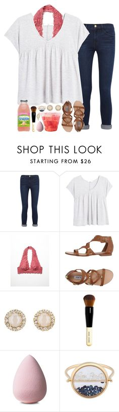 """KHUSHI RTD!!!"" by sarahc01 ❤ liked on Polyvore featuring Frame Denim, MANGO, Free People, Steve Madden, Kate Spade, Bobbi Brown Cosmetics, Aurélie Bidermann and Jennie Kwon"