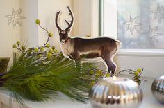 Weihnachtsdeko - Rentier Bild aus MDF/Holz - Kinderzimmer Deko - ein Designerstück von FrlGelb bei DaWanda