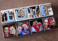 Personalized Wooden Photo Blocks LOVE xoxo HOME by WNRecycledBride, $30.00