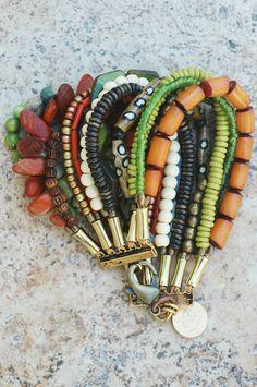Bohemian Multi-Strand Beaded Cuff Bracelet
