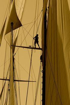 """fuckyeahsailingboats: """" IMG_6239 Dans les voiles d'Elena. Saint-Tropez. Among Elena's sails (by Jean-Phi Deb) """""""
