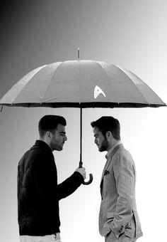 Chris Pine & Zachary Quinto of Star Trek/Star Trek Into Darkness ♥   #startrek #LLAP #kurttasche