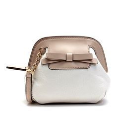 Look what I found on #zulily! Fresh White Small Scotty Rival Road Crossbody Bag by Kate Spade #zulilyfinds