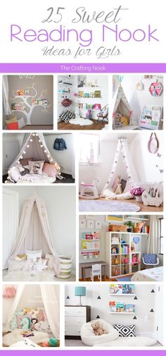 Are you a book lover? Love a special place or spot to read? Your kids too? Come and check out these 25 Sweet Reading Nook Ideas for Girls!!!: