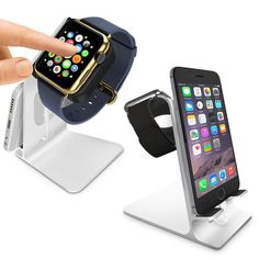 Aluminium Lade Station Für Apple Watch Halterung 38mm 42mm Dock Dockingstation