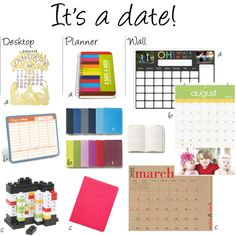 keep on track & up-to-date with this cute & colorful #calendars