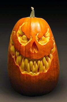 Furniture: Cute And Scary Cool Halloween Pumpkin Carvings, cool ...