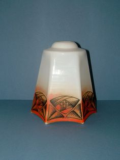 Vintage 1930s Art Deco White Opaque Glass by QueensParkVintage, $55.00