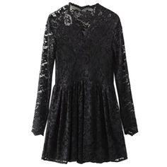 20.79$  Watch now - http://di83u.justgood.pw/go.php?t=206648108 - V Neck Openwork Lace Dress 20.79$