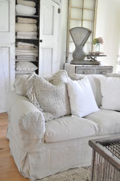 Did you jump on the IKEA Ektorp white sofa bandwagon years ago? I sure did! It was the least expensive way to furnish our family room with enough seating for a family of five. Plus, the white slipcovers can be removed and washed…except they don't tell you the process is like wrestling a baby …