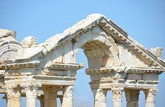 Tetrapylon gateway of Aphrodisias, Caria Geyre, Turkey