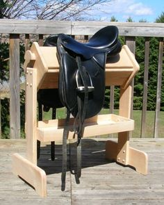 Wellington Convertible Saddle Stand in Hardwood - Finished [SCS02] - $499.99 : Horse Lovers Store, Horse Lovers Store