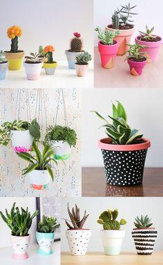 Diy pots de fleurs peints