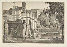 AR Badmin (Stanley Roy, Richmond Bridge, Surrey, etching on Richmond Bridge, Little England, Number 14, Amazing Paintings, Etchings, Surrey, View Image, Bridges, Worlds Largest