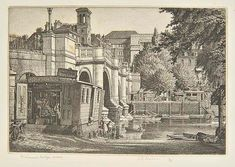 AR Badmin (Stanley Roy, 1906-1989). Richmond Bridge, Surrey, 1931,  etching on wove paper, from the edition of 50, published by the XXI Gallery, a fine impression, signed, titled, and numbered 14/50 in pencil, additionally inscribed in pencil by the artist to extreme lower margin 'A few available about 1935 Exhibited R.A. Published by the 21 Gallery Mill St. W, demolished in war', plate size 113 x 165mm (4.5 x 6.5ins), sheet size 185 x 240mm (7.25 x 9.5ins) Beetles 24. (1)