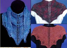 Fern Kerchief Pattern, pdf, shawlette, 4 different weights of yarn