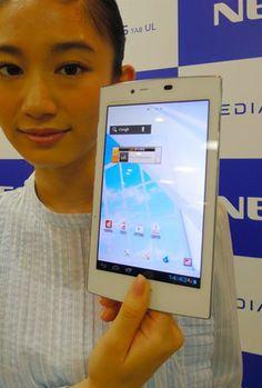 O tablet mais leve do mundo será comercializado no Japão a partir do dia 20 de setembro, relata o jornal local Asahi Shimbun. Ele é 70% mais leve que os outros tablets do mesmo tamanho atualmente no mercado.   NEC to sell world's lightest, vibrationist tablet computer  tablet Medias Tab UL N-08D  http://pt.kioskea.net/faq/13045-o-tablet-mais-leve-do-mundo-comercializado-no-japao