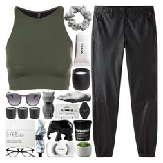 """""""goner"""" by adventuring-into-the-night ❤ liked on Polyvore featuring rag & bone/JEAN, Onzie, Illesteva, H&M, PyroPet, Harry Allen, Nixon, NARS Cosmetics, David Jones and The Elephant Family"""