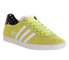 Adidas Gazelle Og W Glow Yellow Black Polka - Hers trainers