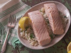 Traditional Poached (in wine) Salmon recipe from Farmhouse Rules