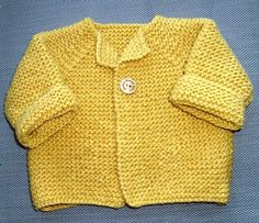 Hand Knitted Baby Cardigan By Louise - Free Knitted Pattern - (luisafelice.blogspot)
