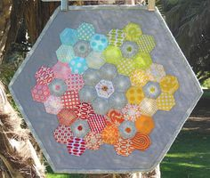 hexagon quilt and beading