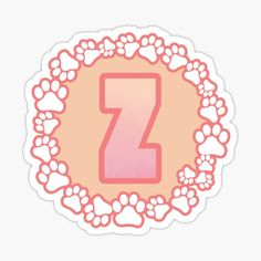 LETTER Z PAW Stickers | Redbubble