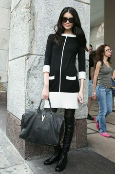 Sui He with YSL bag. Love the dress.