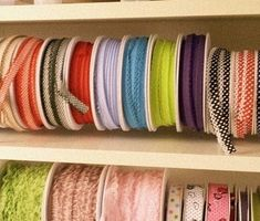 ribbon organization - diy tutorial