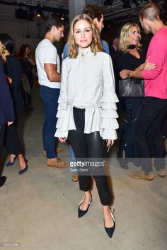 Olivia Palermo attends the Jonathan Simkhai fashion show during New York Fashion Week: The Shows at Gallery 1, Skylight Clarkson Sq on September 9, 2017 in New York City.