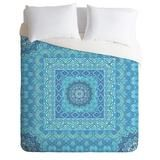 Aimee St Hill Farah Squared Blue Duvet Cover | DENY Designs Home Accessories