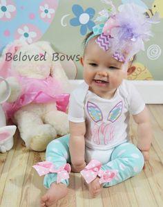 Easter Monogrammed Bunny Ears Shirt