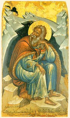 ПРОРОК ИЛИЯ Вторая половина XVI века Святая Гора Афон. Монастырь Stavronikita Изограф Michael Damaskinos (500х845)