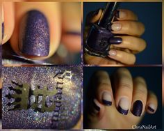 #LadyOfTheLake #A England #French Manucure #Holo #nail art