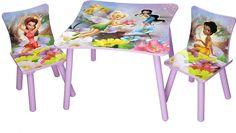 Venta Mesa y 2 sillas de Campanilla. Disney Fairies. TT89200FR, IndalChess.com Tienda de juguetes online y juegos de jardin