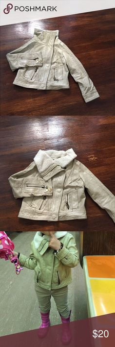 In excellent condition Faux leather jacket! My daughter have worn it since she became 3 years old until 6 yo Jackets & Coats