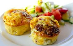 Egg Muffins with Onion Salami and more Paleo snacks on-the-go ideas at MyNaturalFamily.com #paleo #snacks