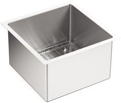 Amazon.com: KOHLER K-5287-NA Strive 15 X 15-Inch Under-Mount Bar Sink with Basin Rack, Stainless Steel, 1-Pack: Home Improvement